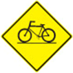 Designated bicycle crossing